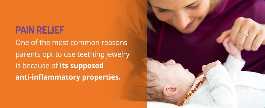 Teething Jewelry Is Used To Provide Pain Relief