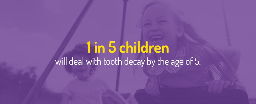 1 in 5 children deal with tooth decay by age 5
