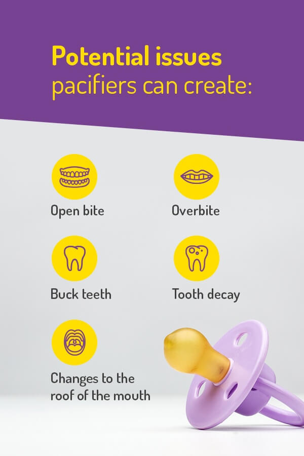 dental problems pacifiers cause