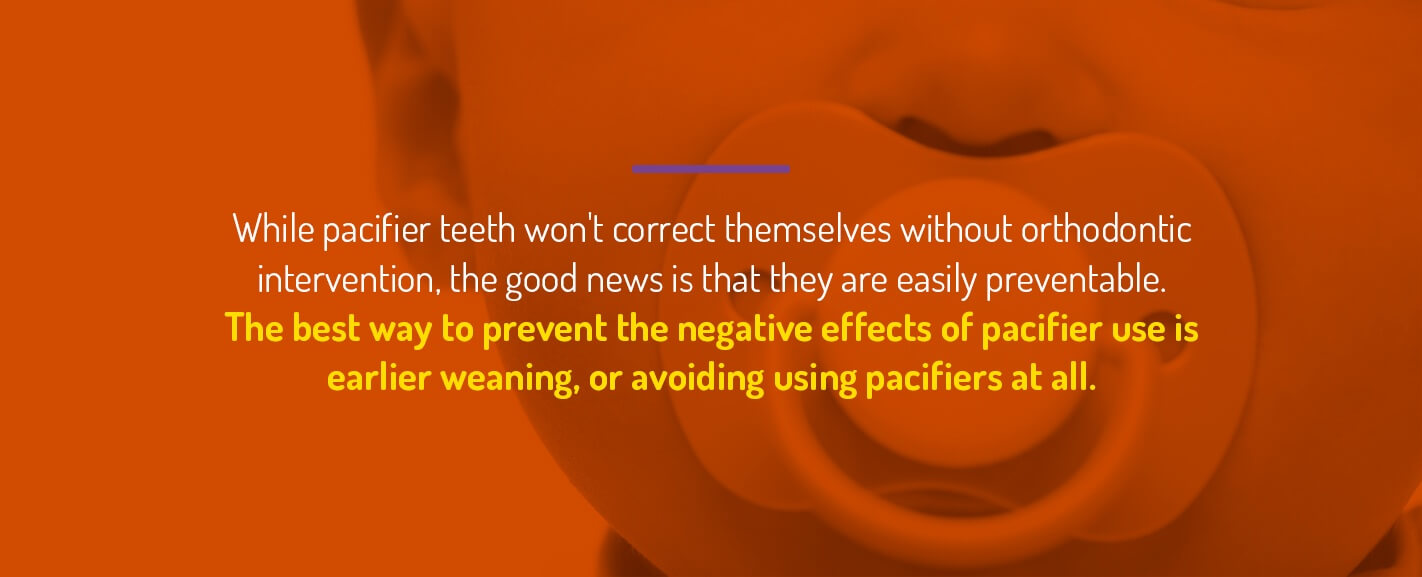 how to prevent pacifier teeth